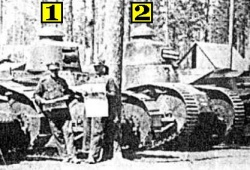 Tanks in Poolse dienst! 1:Renault FT-17. 2:CWS FT-17.